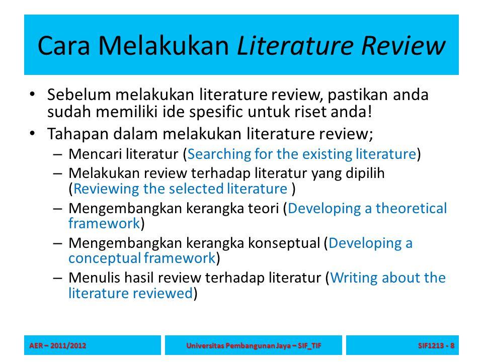 Cara Melakukan Literature Review