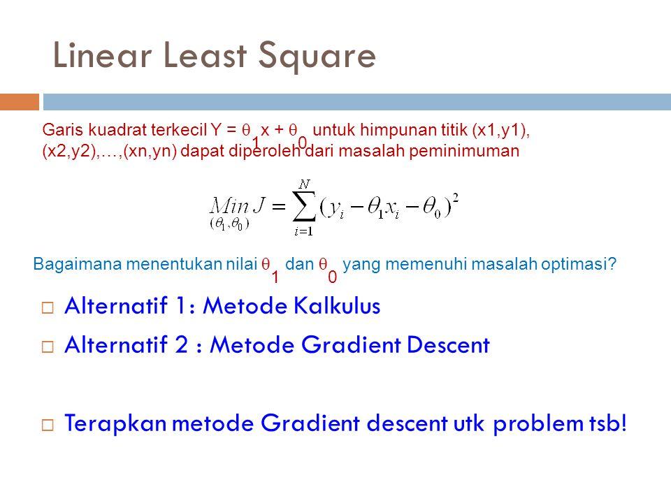 Linear Least Square Alternatif 1: Metode Kalkulus