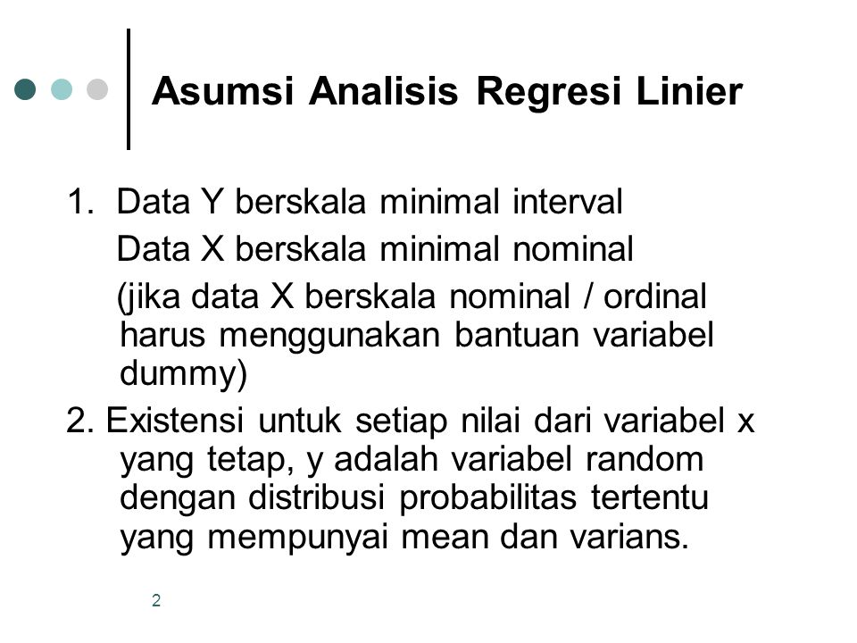 Asumsi Analisis Regresi Linier