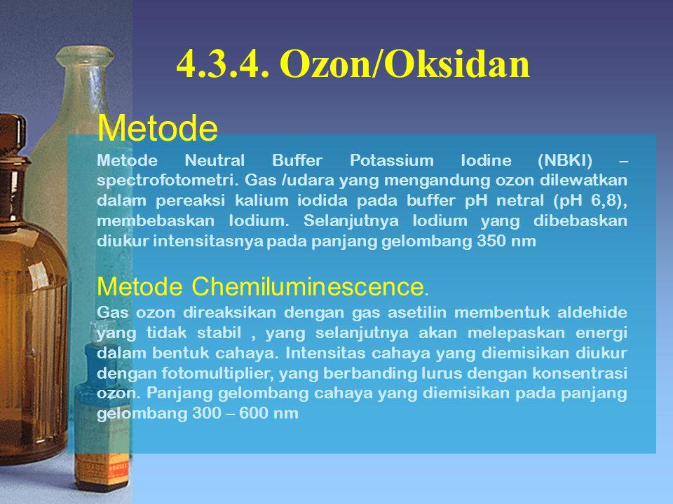 4.3.4. Ozon/Oksidan Metode Metode Chemiluminescence.
