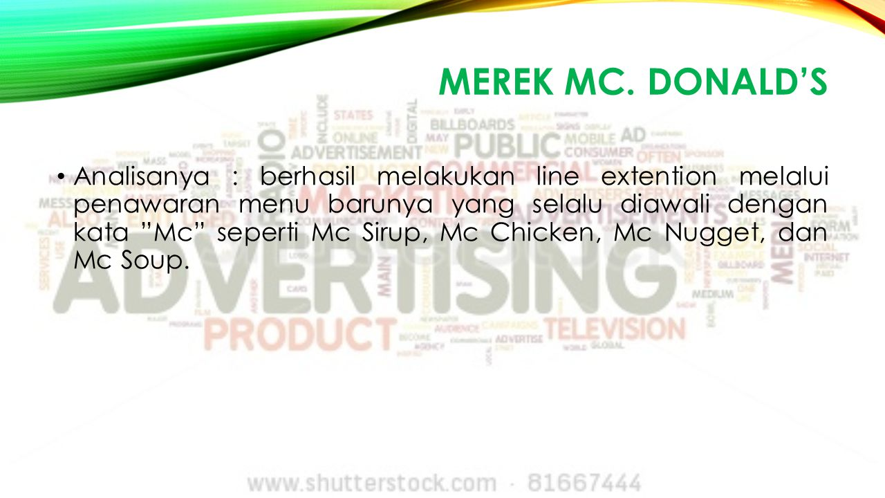 Merek Mc. Donald's