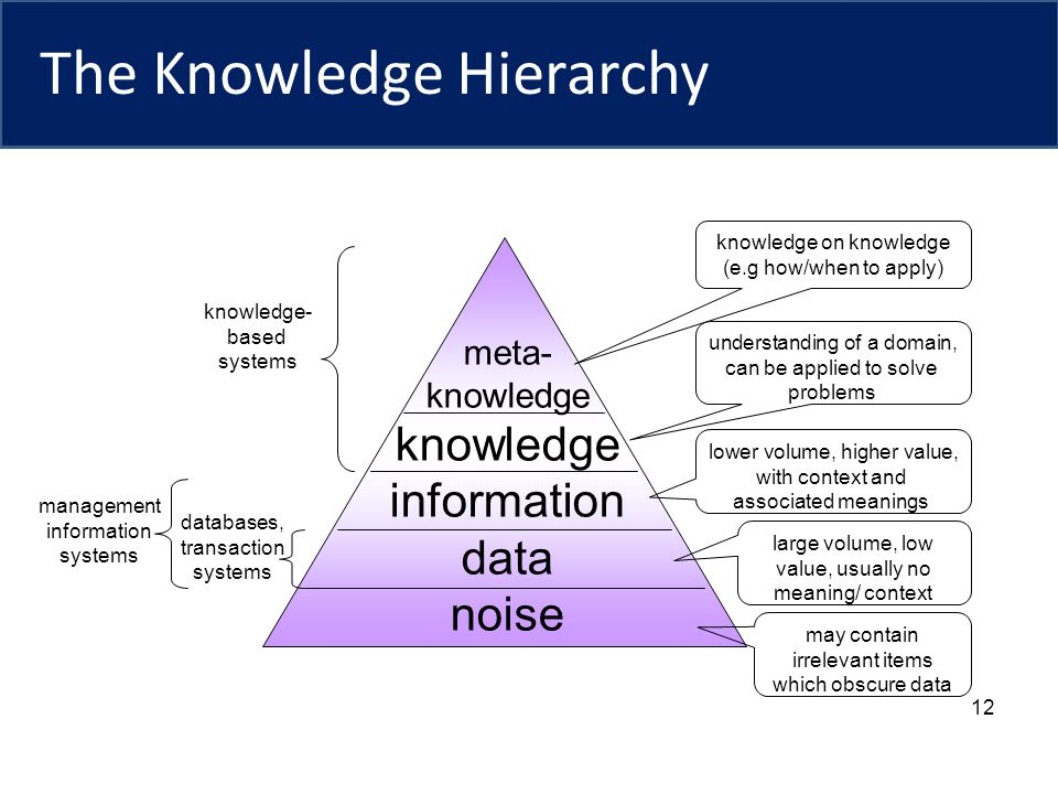 The Knowledge Hierarchy
