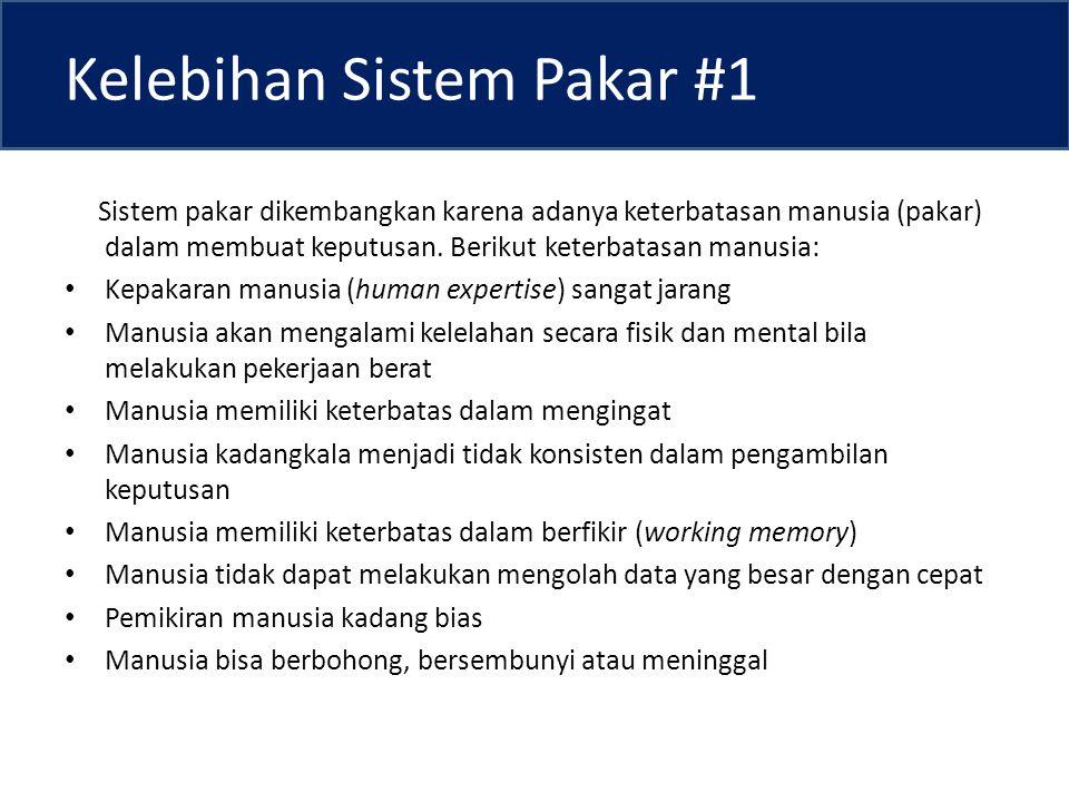 Kelebihan Sistem Pakar #1