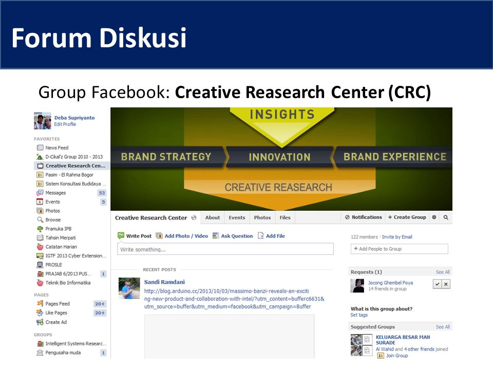 Group Facebook: Creative Reasearch Center (CRC)