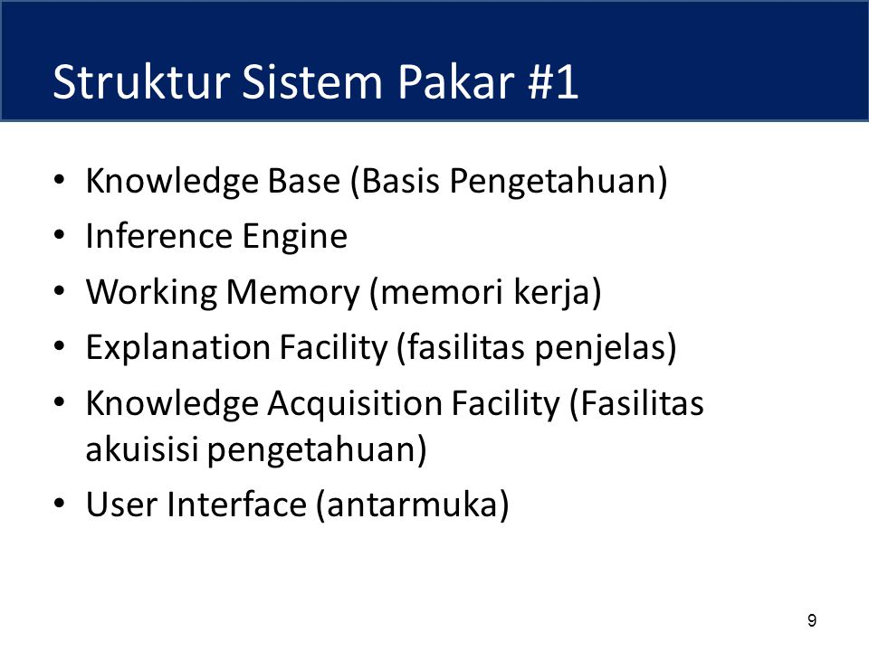 Struktur Sistem Pakar #1