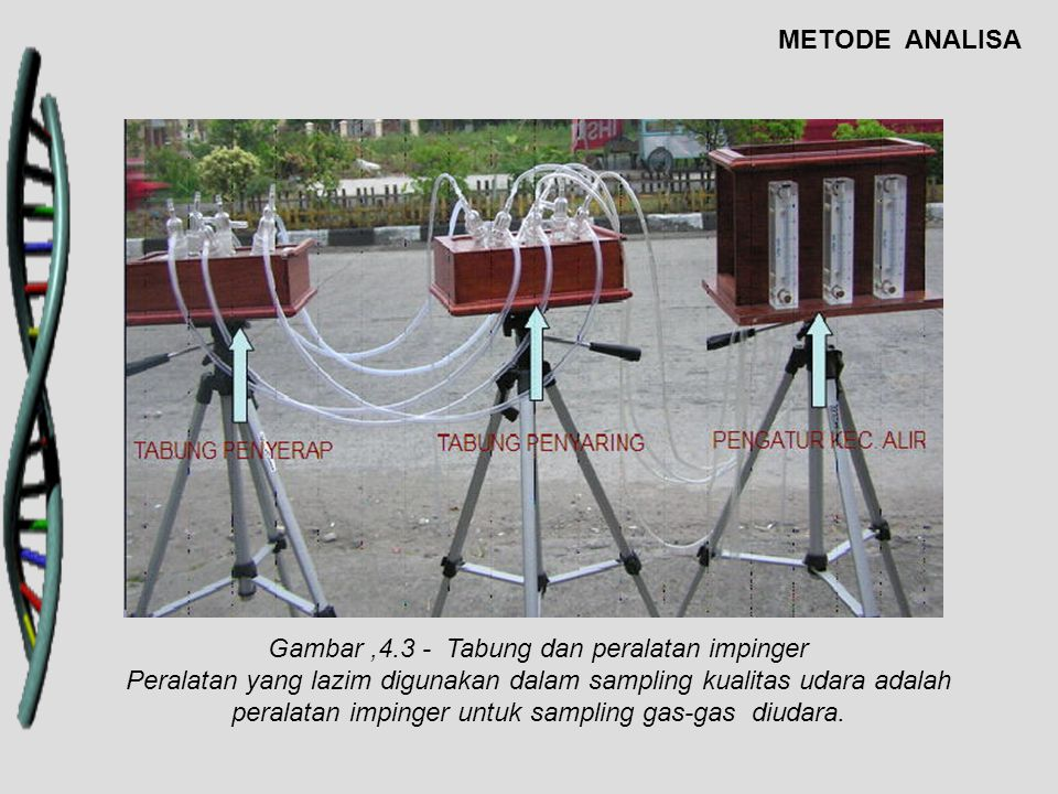 Gambar ,4.3 - Tabung dan peralatan impinger