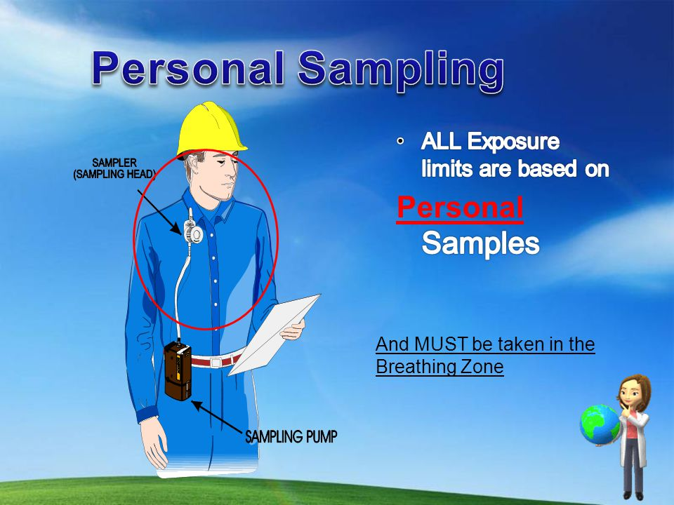 Personal Sampling Personal Samples ALL Exposure limits are based on