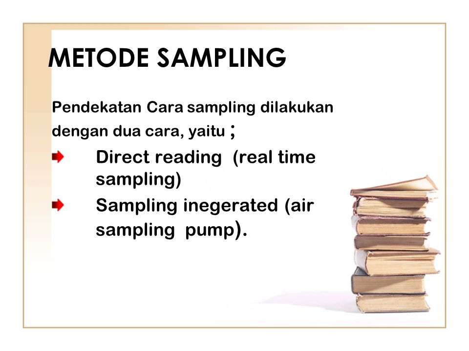 METODE SAMPLING Direct reading (real time sampling)