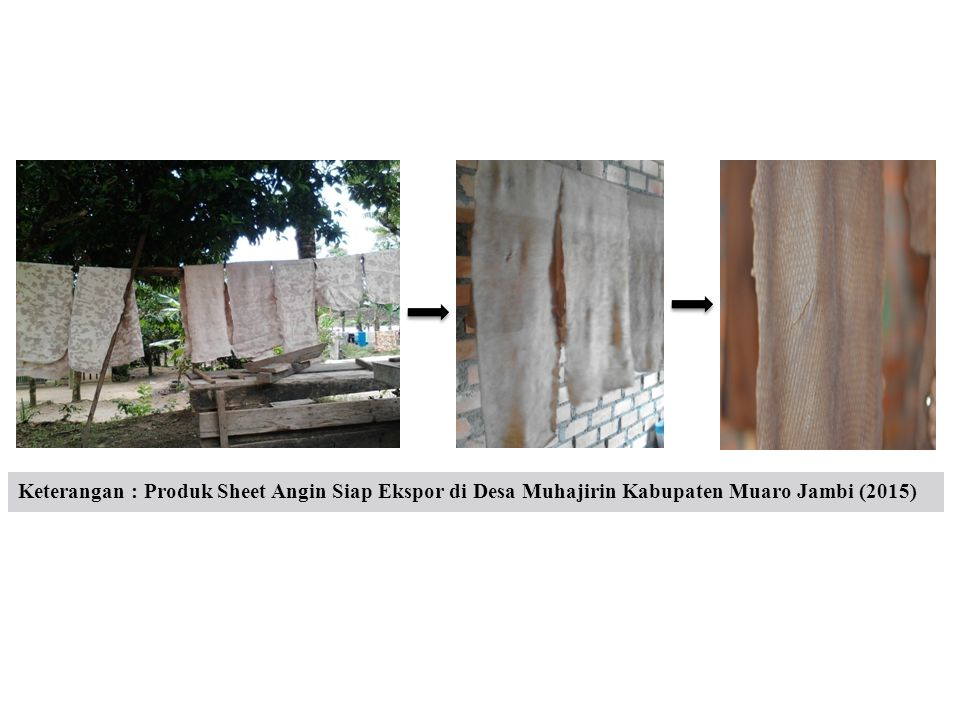 Keterangan : Produk Sheet Angin Siap Ekspor di Desa Muhajirin Kabupaten Muaro Jambi (2015)