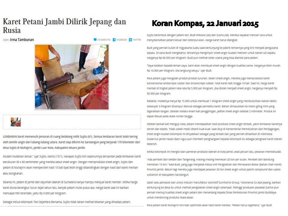 Koran Kompas, 22 Januari 2015