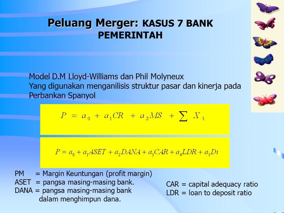 Peluang Merger: KASUS 7 BANK PEMERINTAH