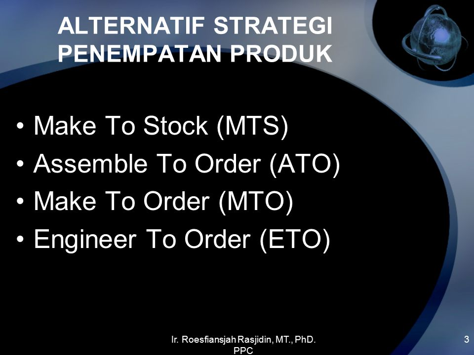 ALTERNATIF STRATEGI PENEMPATAN PRODUK