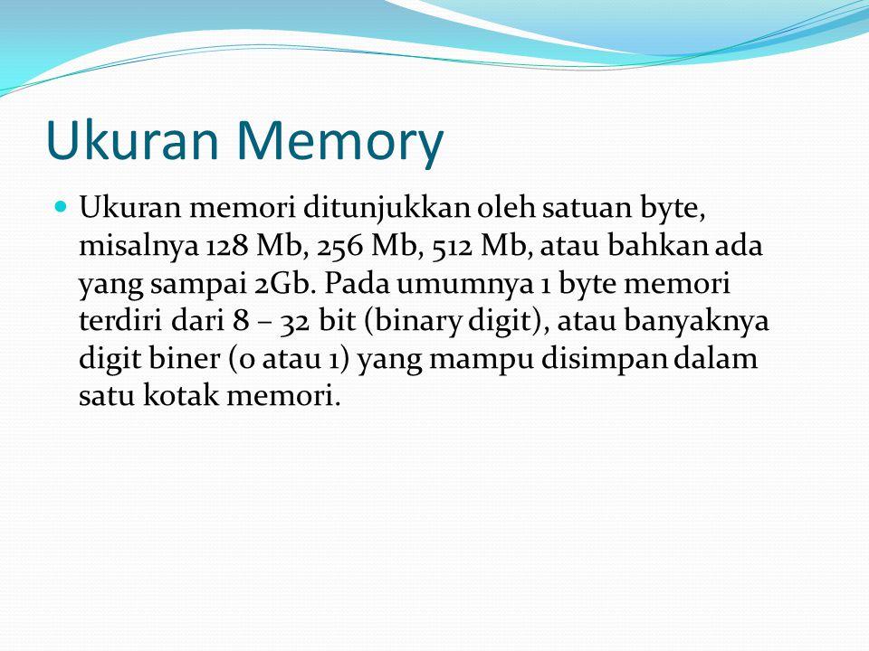 Ukuran Memory