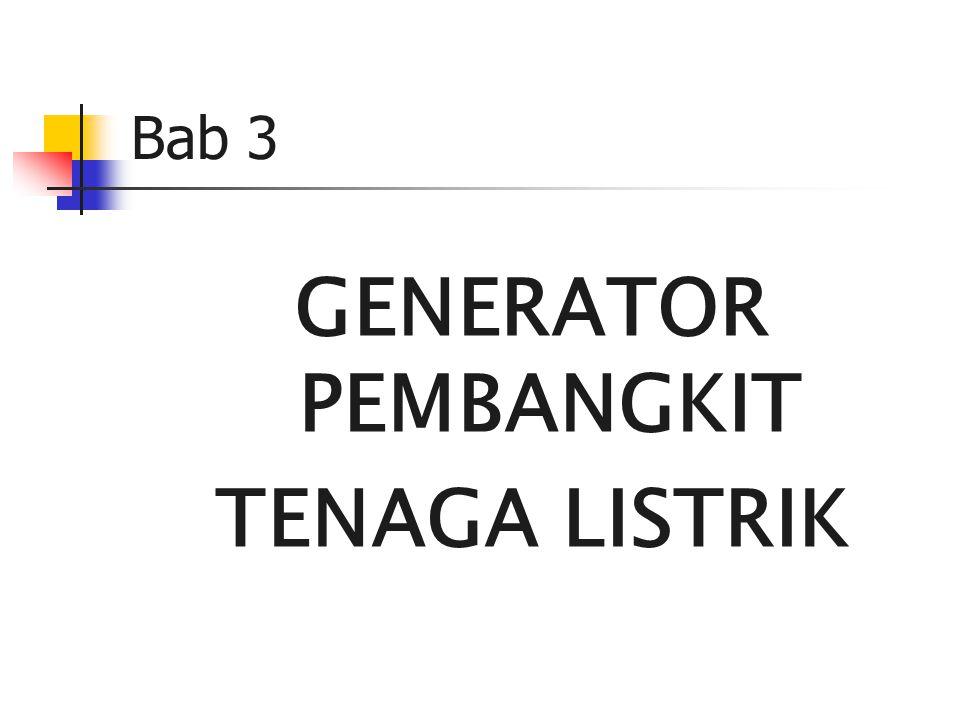 GENERATOR PEMBANGKIT TENAGA LISTRIK