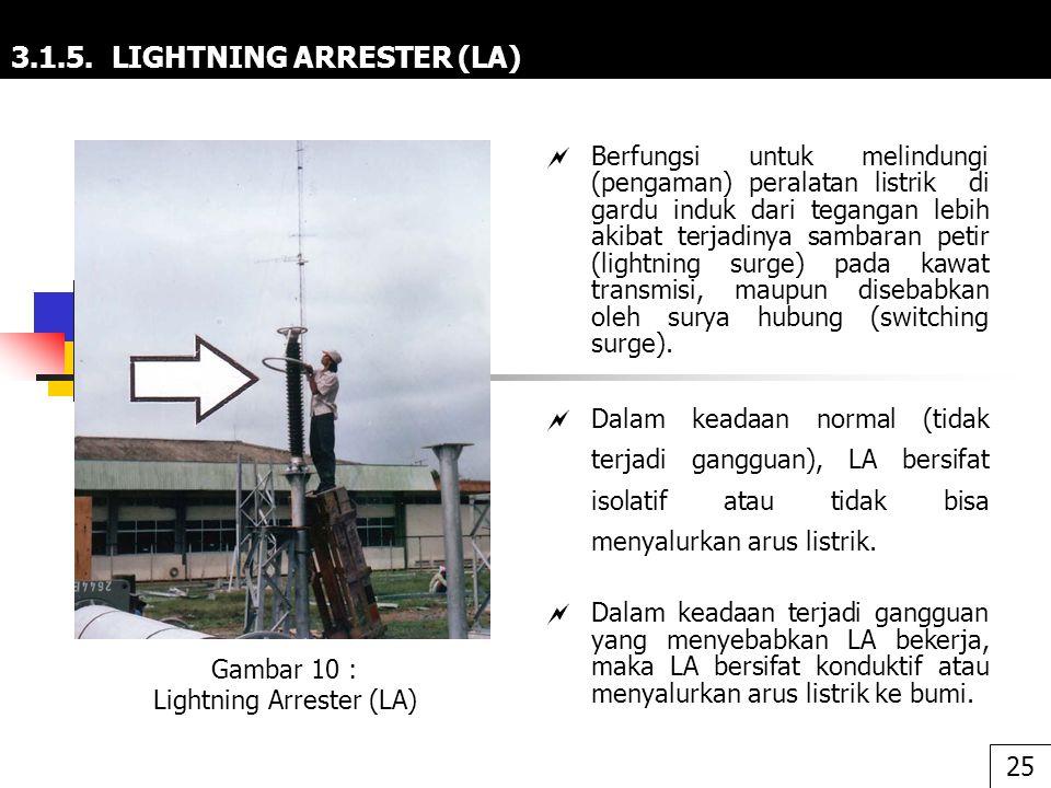 3.1.5. LIGHTNING ARRESTER (LA)