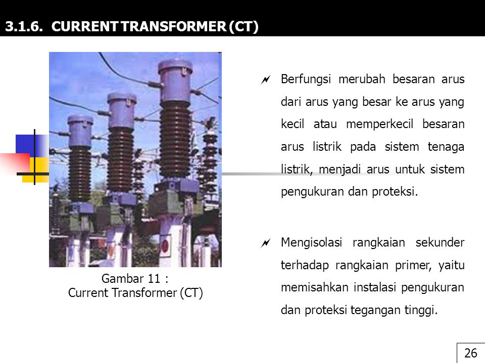 3.1.6. CURRENT TRANSFORMER (CT)