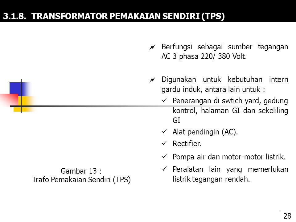 3.1.8. TRANSFORMATOR PEMAKAIAN SENDIRI (TPS)