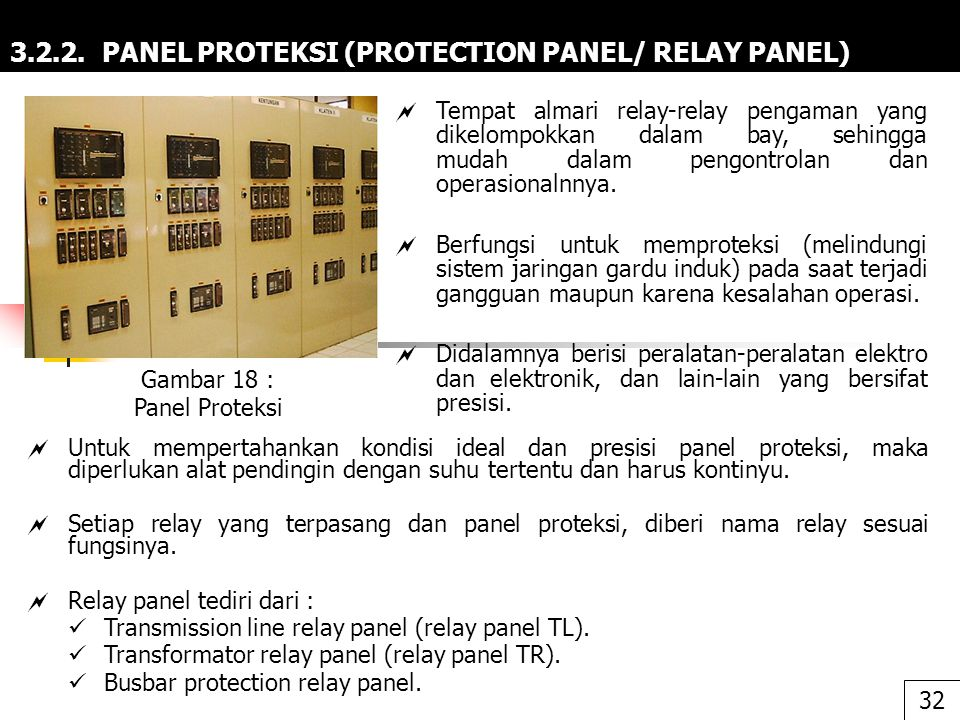 3.2.2. PANEL PROTEKSI (PROTECTION PANEL/ RELAY PANEL)
