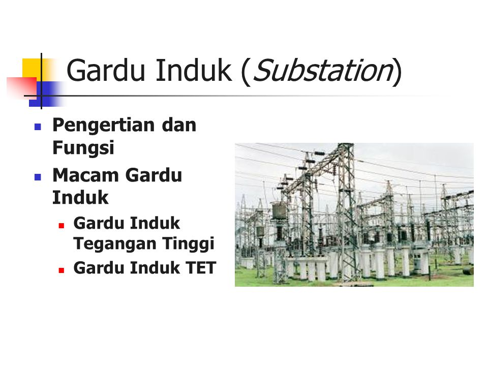 Gardu Induk (Substation)