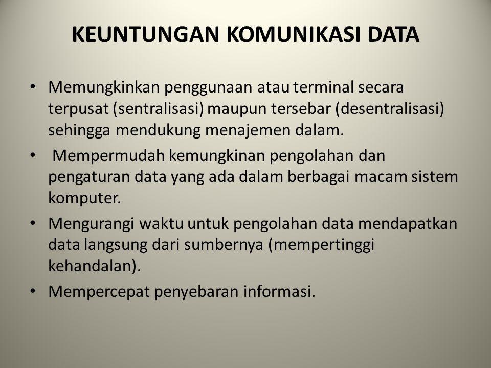 KEUNTUNGAN KOMUNIKASI DATA