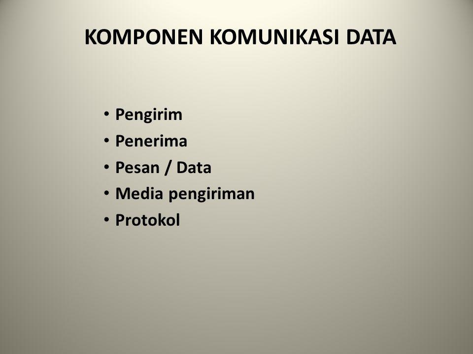 KOMPONEN KOMUNIKASI DATA