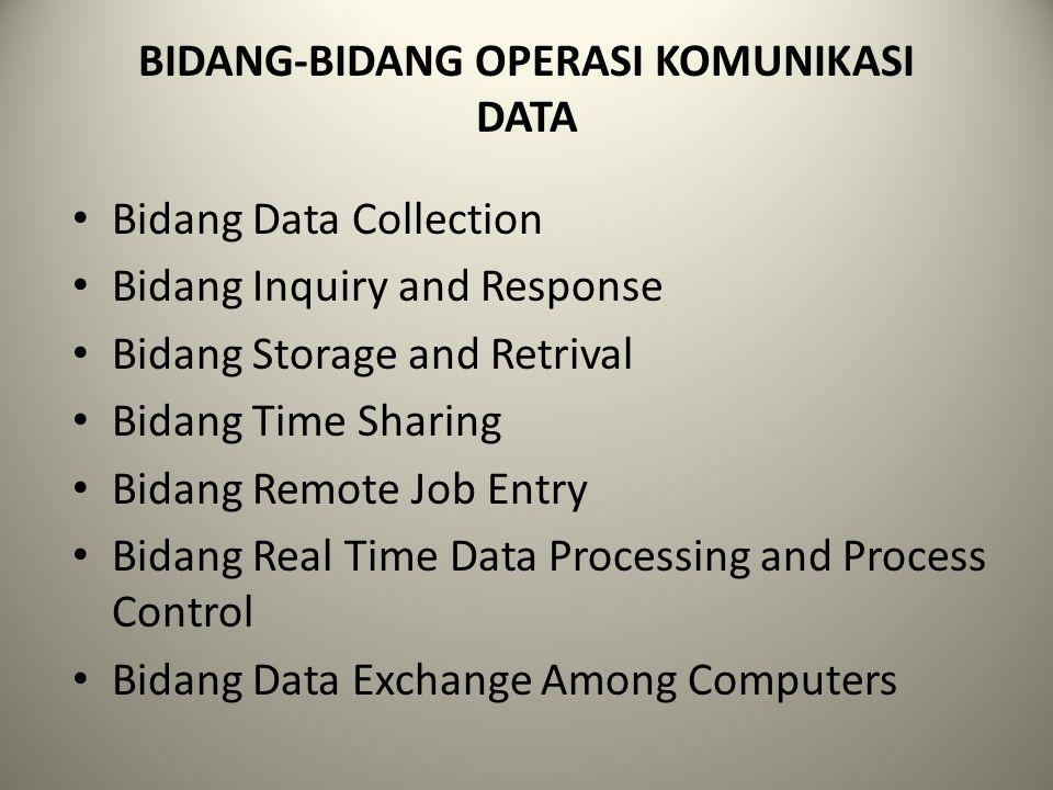 BIDANG-BIDANG OPERASI KOMUNIKASI DATA
