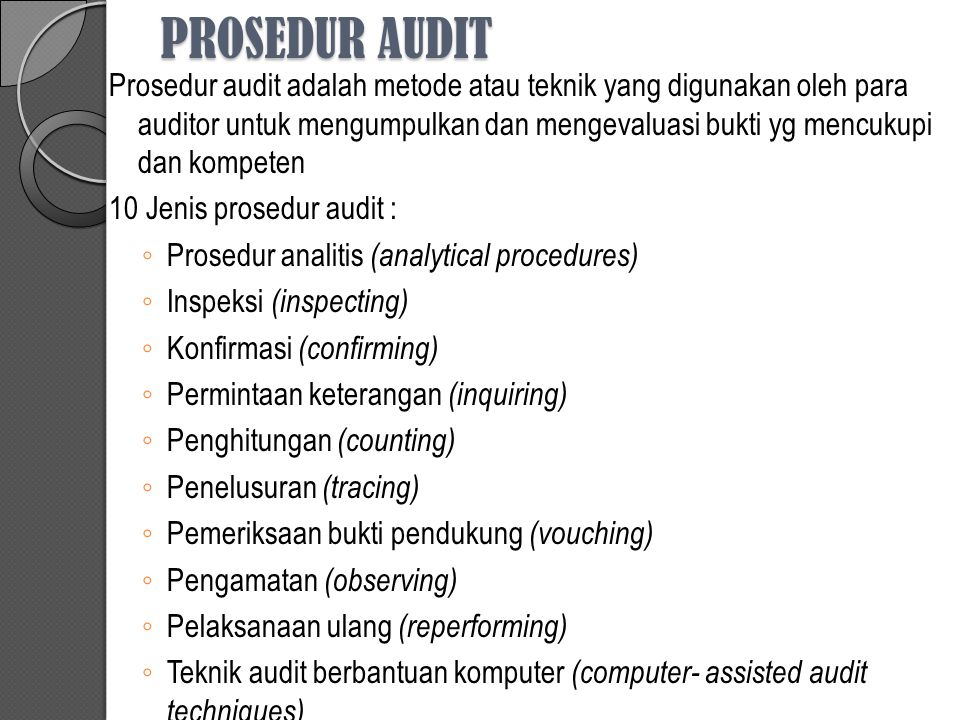 PROSEDUR AUDIT