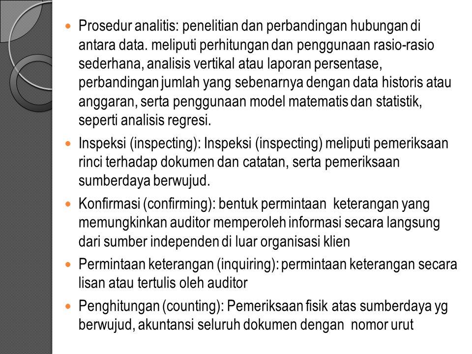 Prosedur analitis: penelitian dan perbandingan hubungan di antara data
