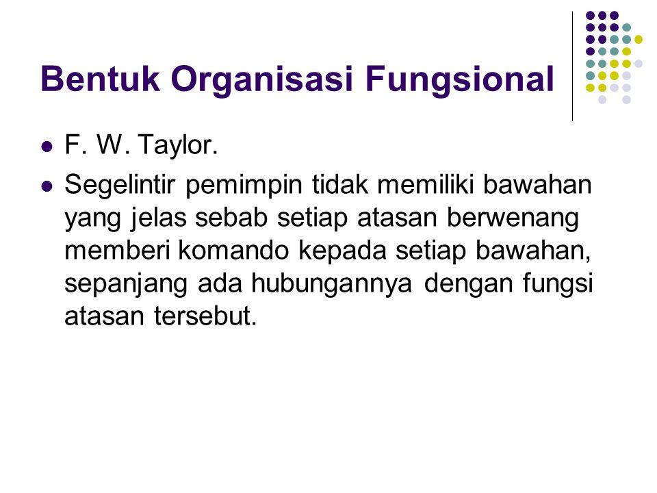 Bentuk Organisasi Fungsional
