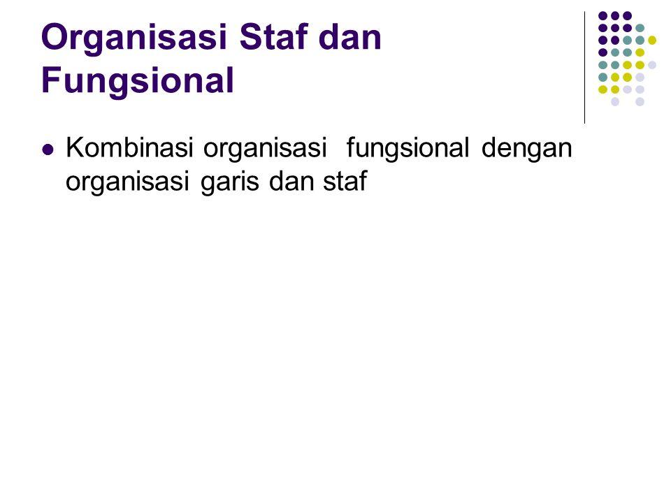 Organisasi Staf dan Fungsional