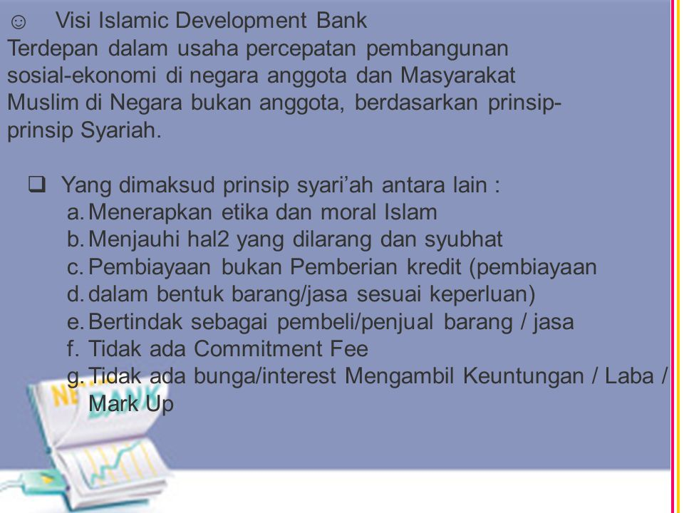 ☺ Visi Islamic Development Bank