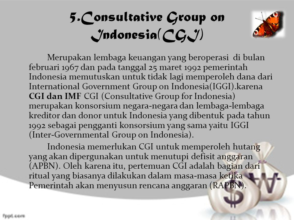 5.Consultative Group on Indonesia(CGI)