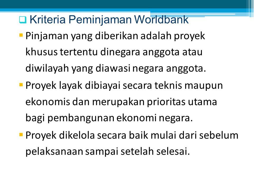 Kriteria Peminjaman Worldbank