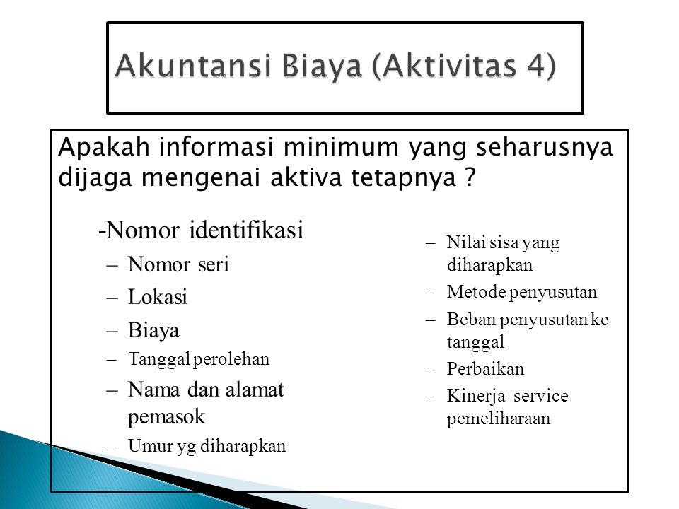 Akuntansi Biaya (Aktivitas 4)