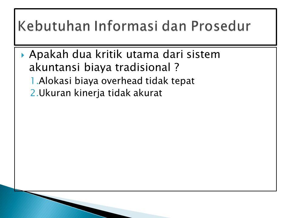 Kebutuhan Informasi dan Prosedur