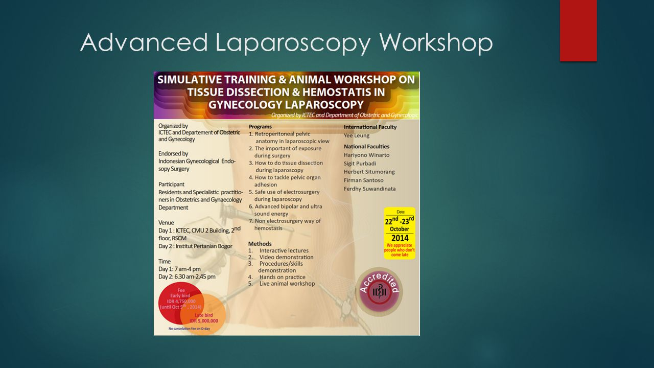 Advanced Laparoscopy Workshop