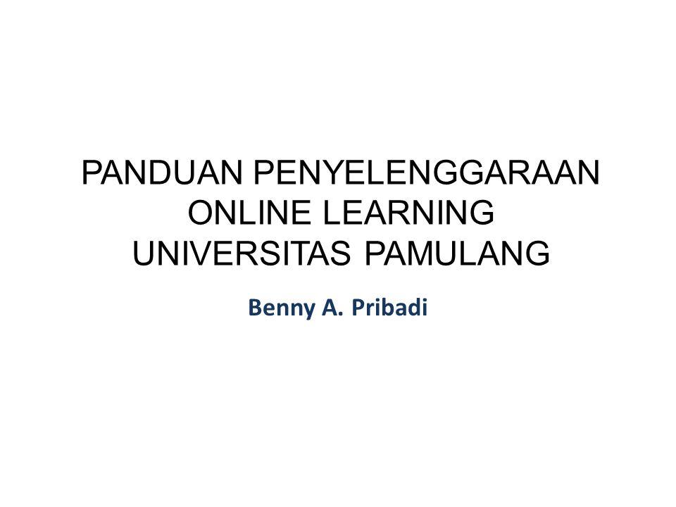 PANDUAN PENYELENGGARAAN ONLINE LEARNING UNIVERSITAS PAMULANG