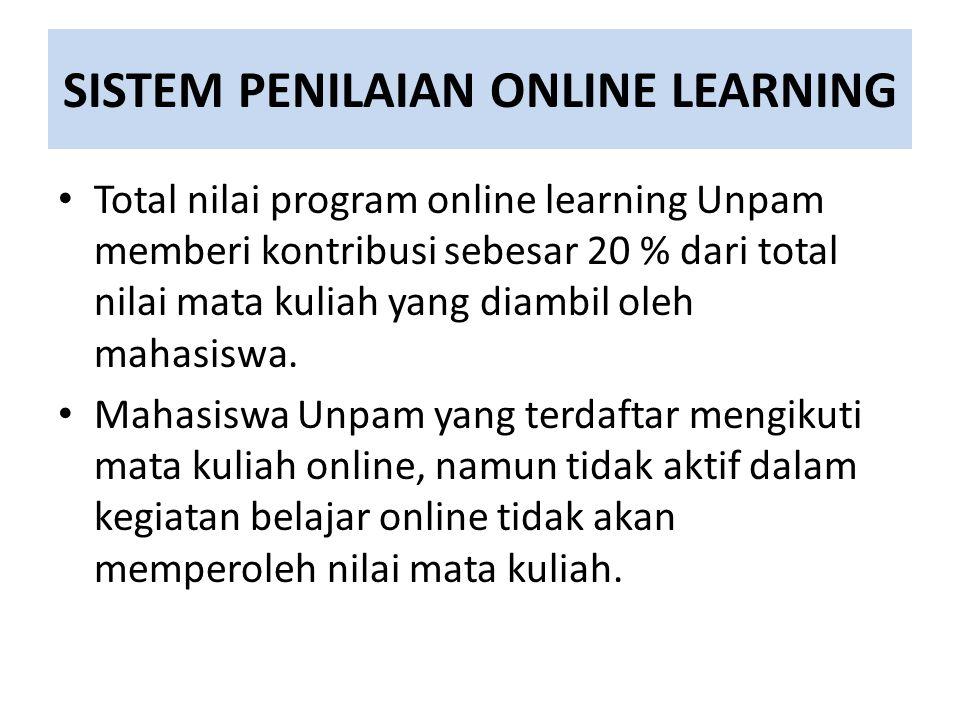 SISTEM PENILAIAN ONLINE LEARNING