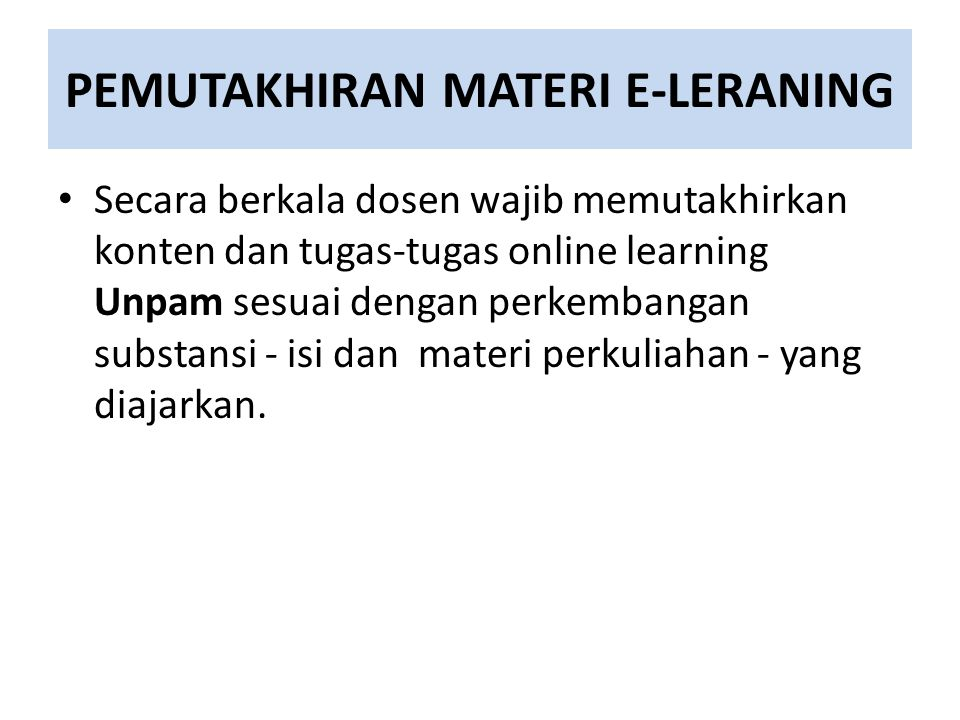 PEMUTAKHIRAN MATERI E-LERANING