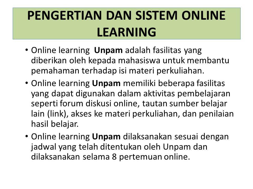 PENGERTIAN DAN SISTEM ONLINE LEARNING