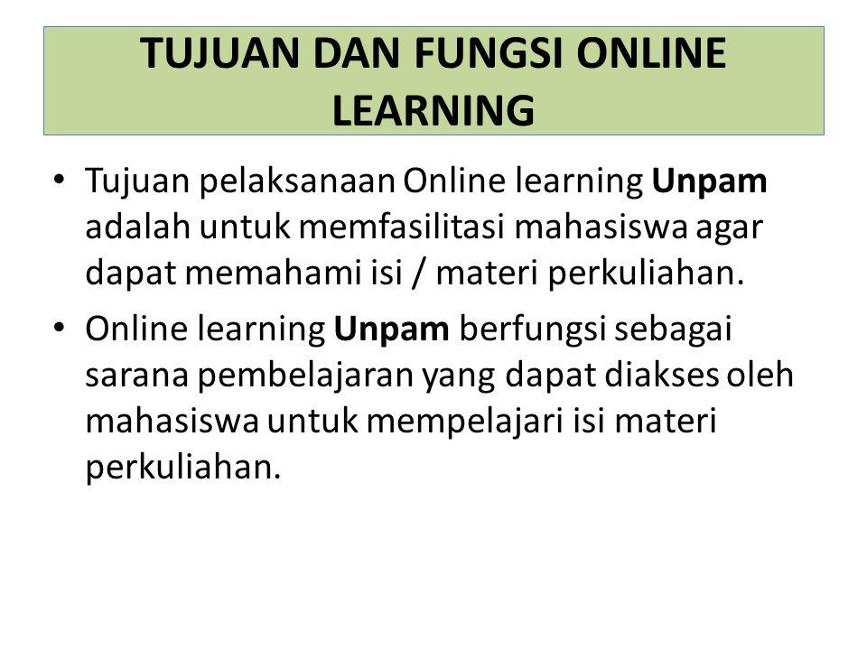 TUJUAN DAN FUNGSI ONLINE LEARNING