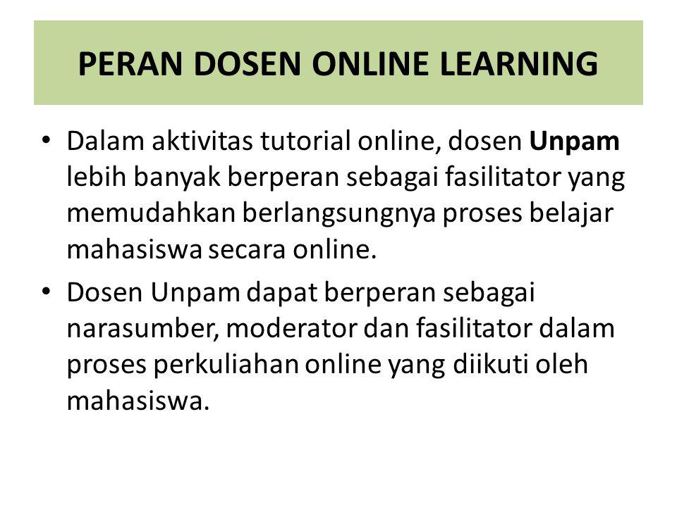 PERAN DOSEN ONLINE LEARNING