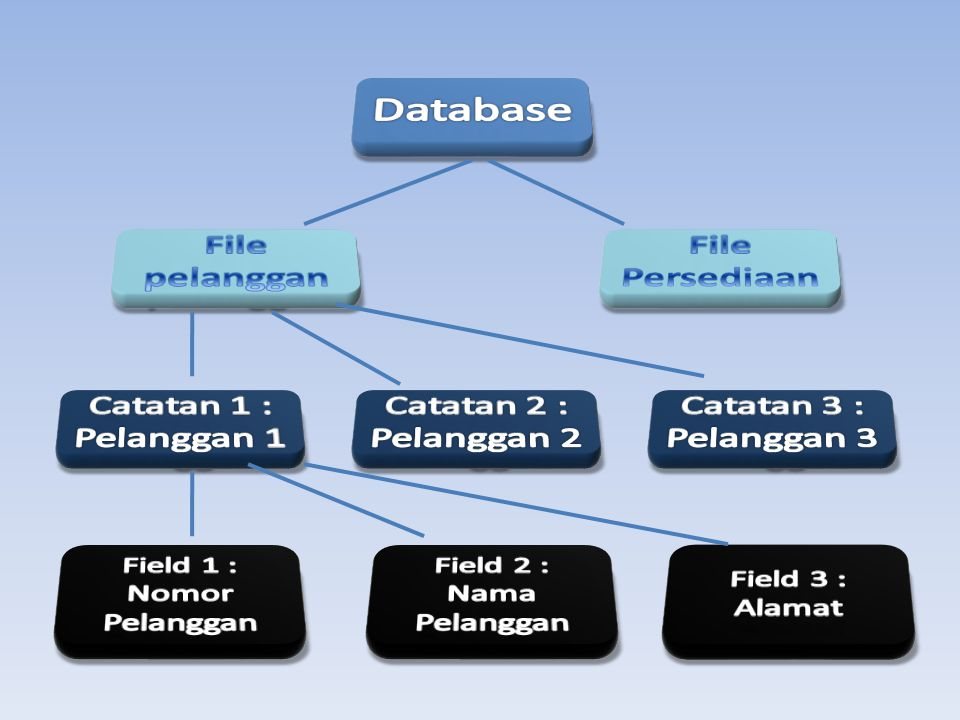 Database File pelanggan File Persediaan Catatan 1 : Pelanggan 1