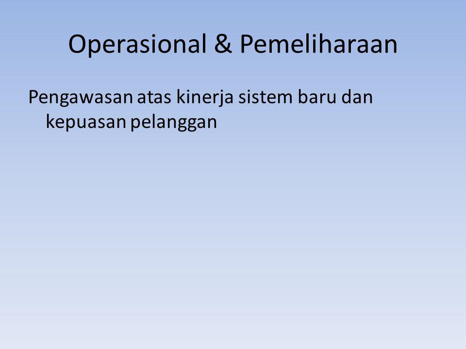 Operasional & Pemeliharaan