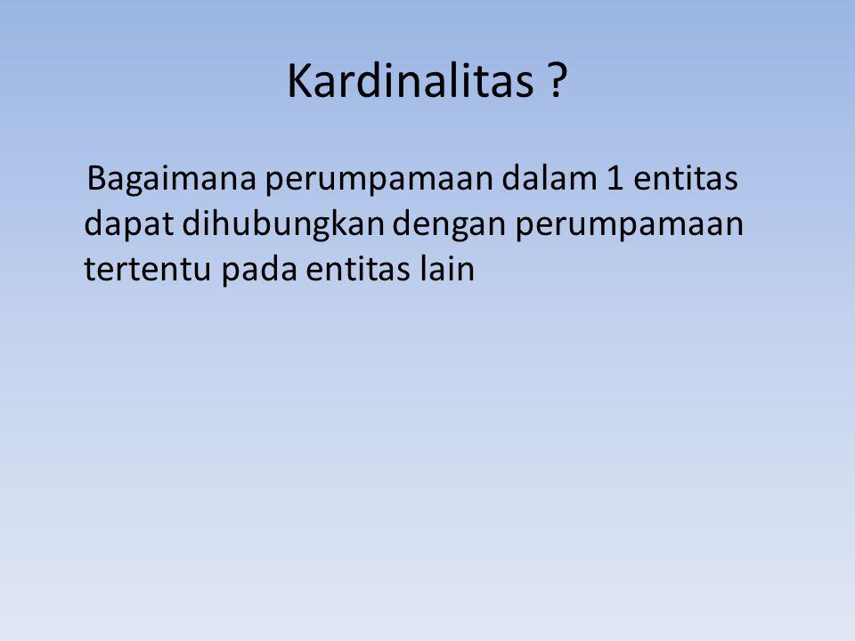 Kardinalitas .
