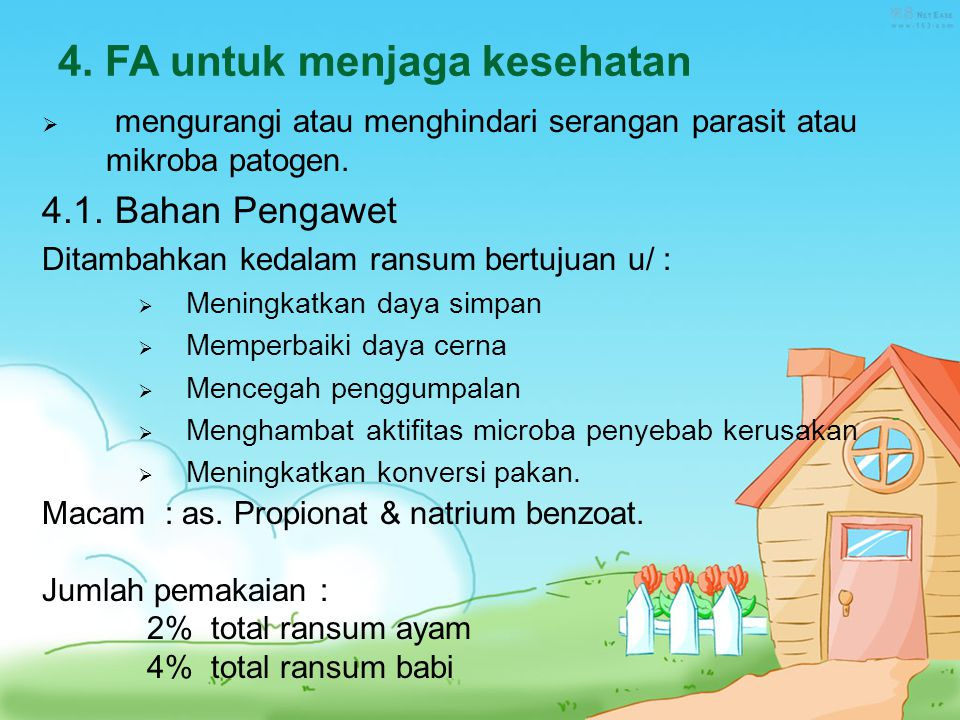 4. FA untuk menjaga kesehatan