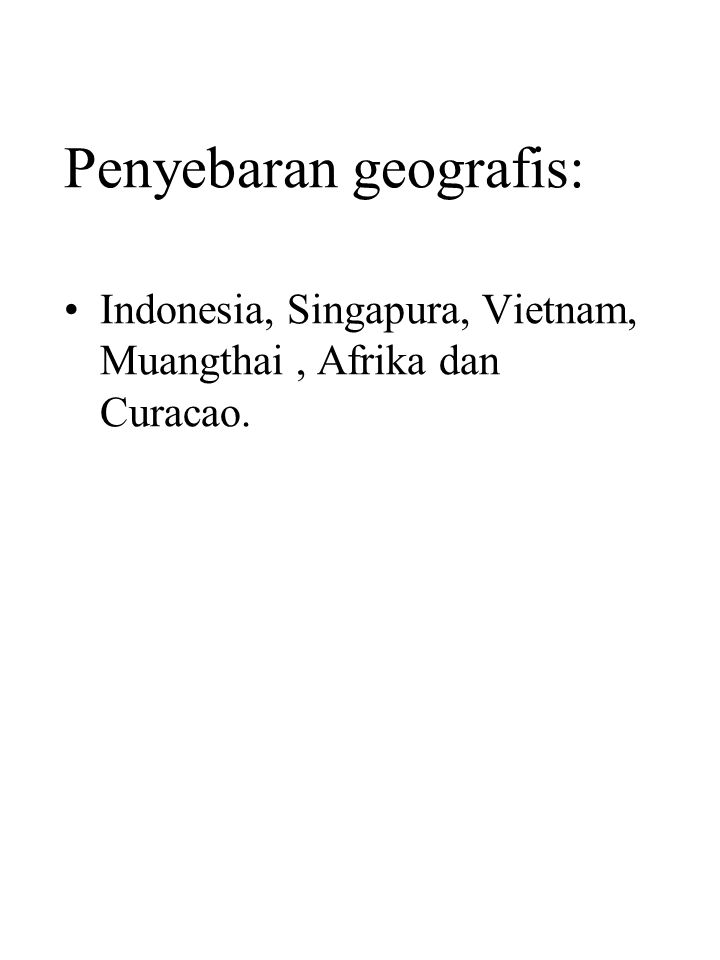 Penyebaran geografis: