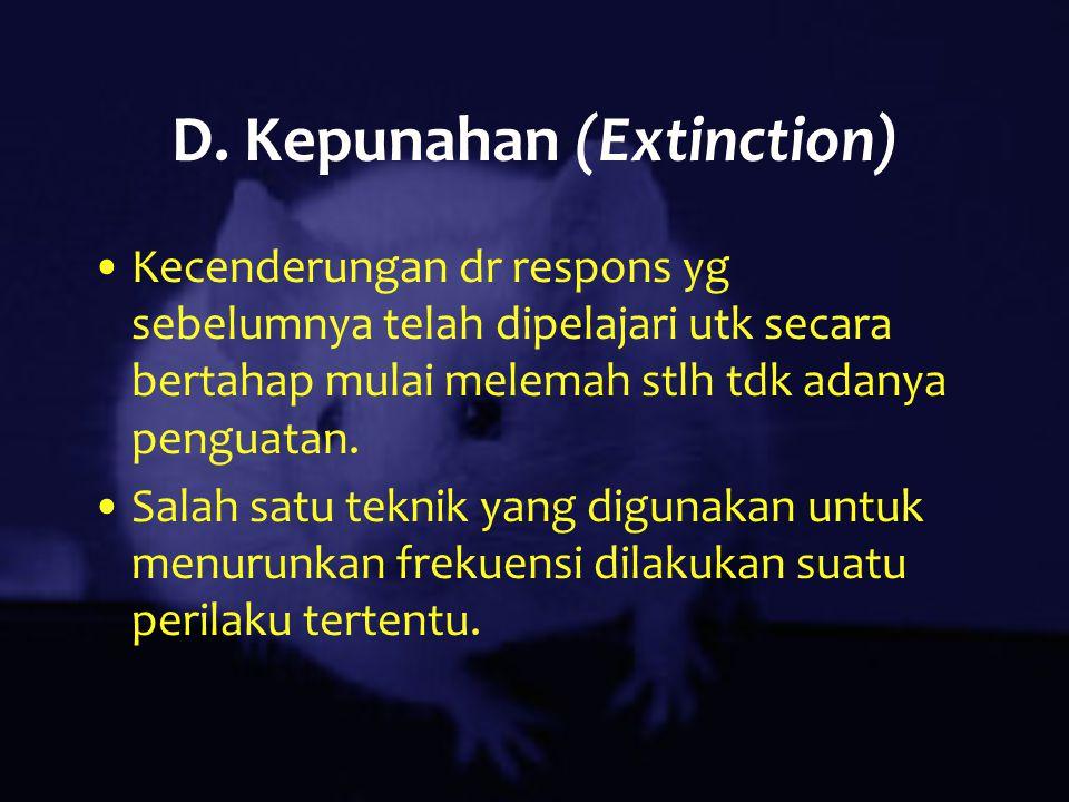 D. Kepunahan (Extinction)