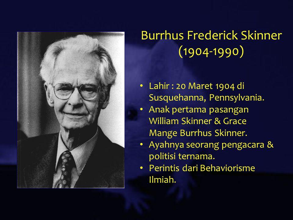burrhus frederic skinner essay