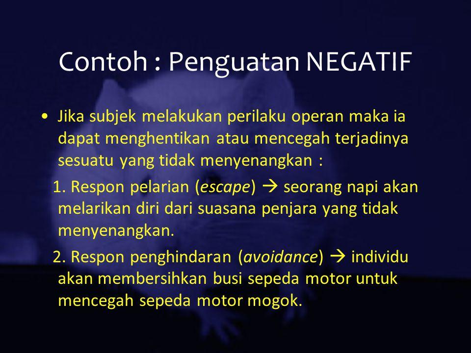 Contoh : Penguatan NEGATIF